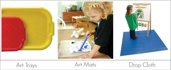 Kids Art Tools to Protect Furniture and Clothing from Paint etc