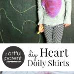 Heart Doily Printed T-Shirts Redux :: 3 Years Later!