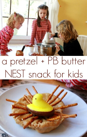 Pretzel Birds Nests - Easter Snacks for Kids