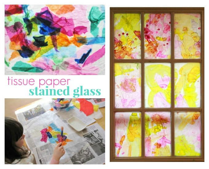 Spring Crafts Kids Love - Stained Glass Crafts