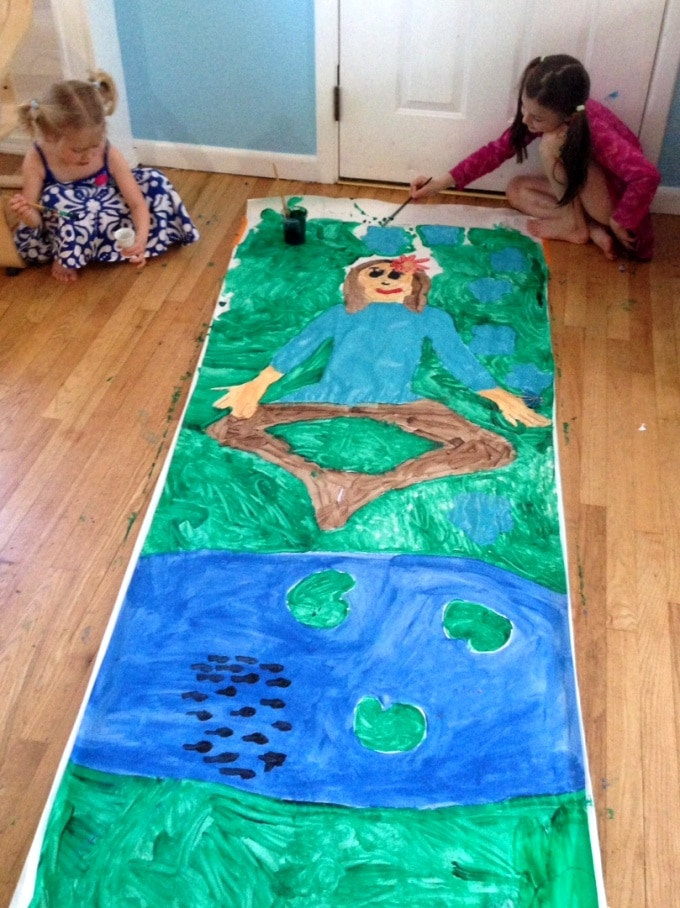 Body Tracing Activity for Kids