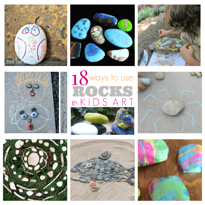 18 Ways to Use Rocks in Kids Art