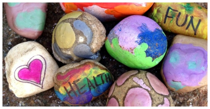 Kids Art with Rocks - DIY Wishing Stones