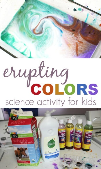 Erupting Colors Science Activity for Kids