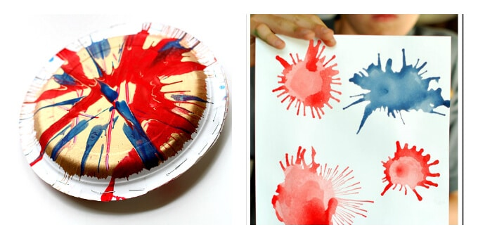Patriotic Art Projects - Noisemaker and Blow Art