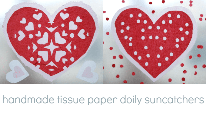 How to Make Handmade Tissue Paper Heart Doilies