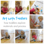 Toddler art is about exploring the materials