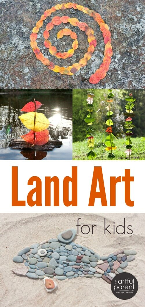Land Art for Kids using Nature Items