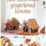 Mini Halloween Gingerbread Houses