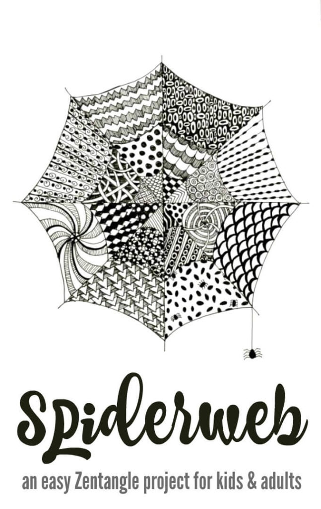 Plant Kerstster Easy Zentangle For Kids And Adults With Spiderwebs