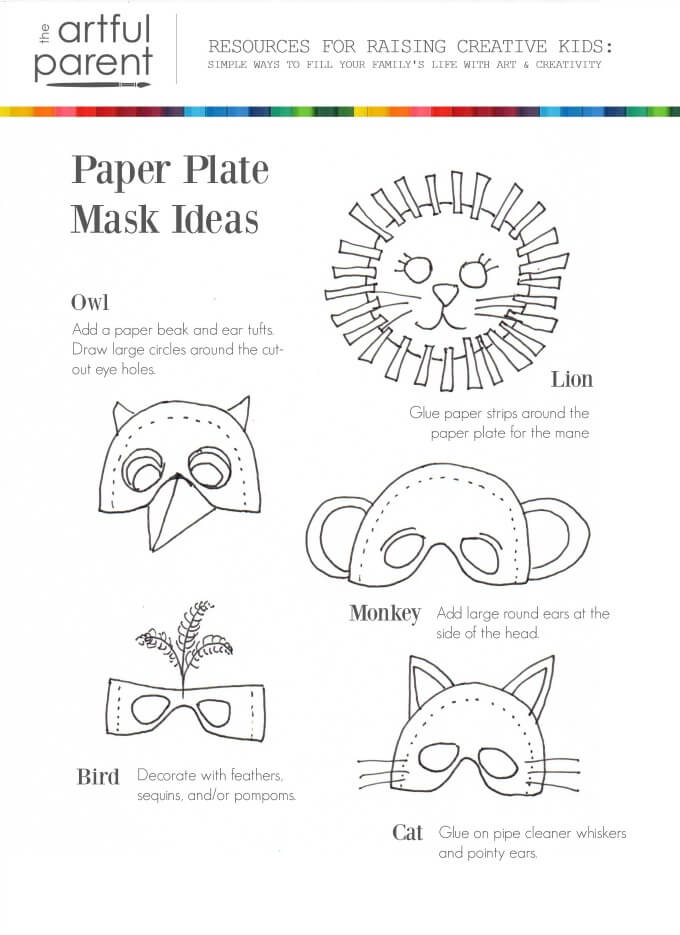 How to Make Paper Plate Masks and Cardboard Wings for Kids Costumes
