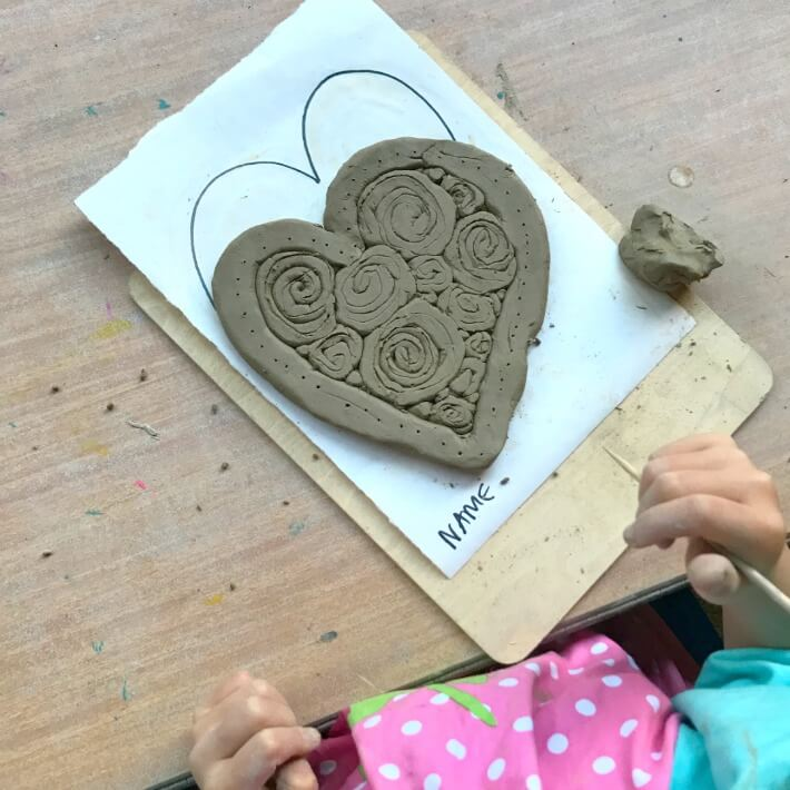 How to Make Clay Coil Hearts (Easy Clay Projects for Kids)