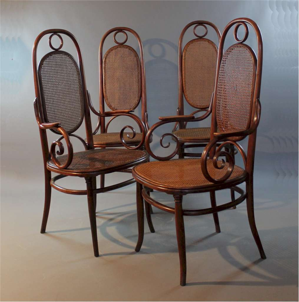 Thonet Michael Wonderful Set Of No 17 Bentwood Chairs By Michael Thonet