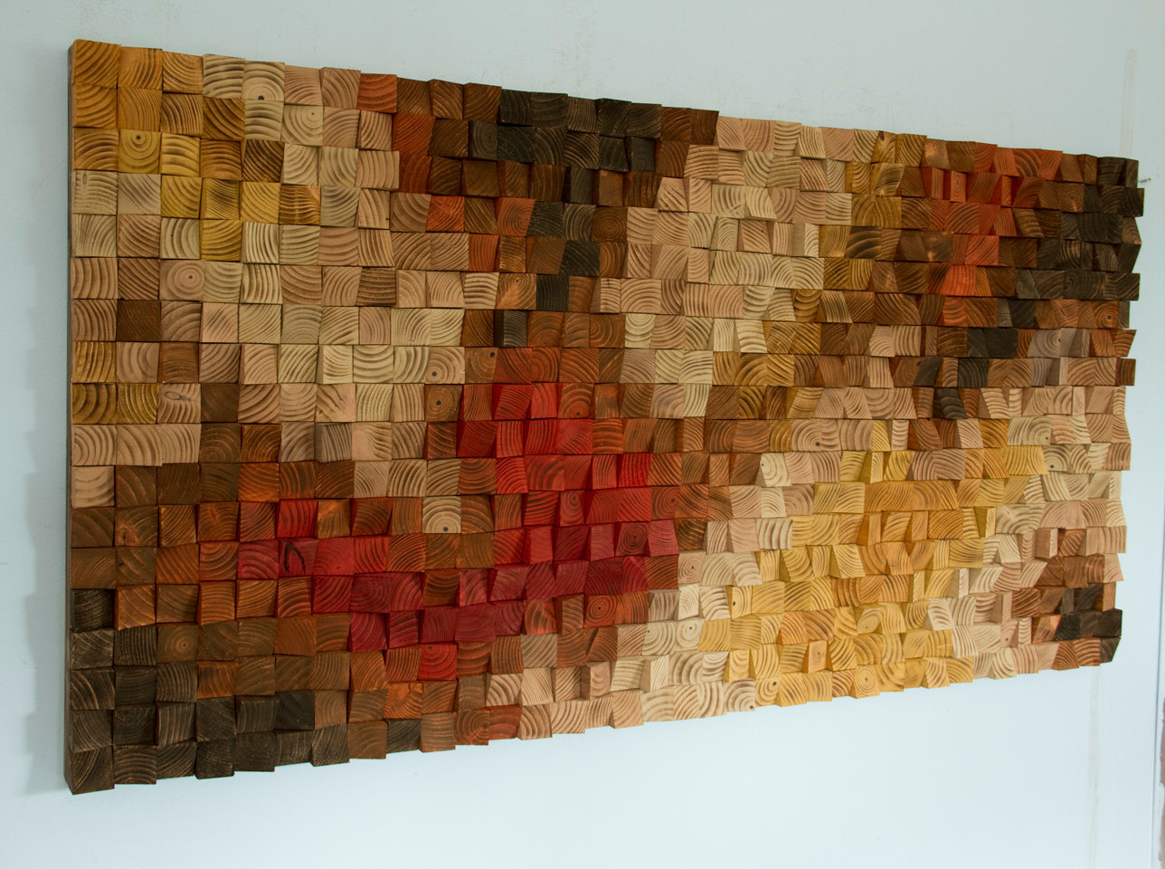 Art Painted On Wood Large Rustic Wood Wall Art Wood Wall Sculpture Abstract