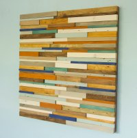 Reclaimed Wood wall Art, Industrial wall Art rustic wood ...