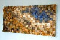 Reclaimed Wood wall Art, wood mosaic, geometric art, wood ...