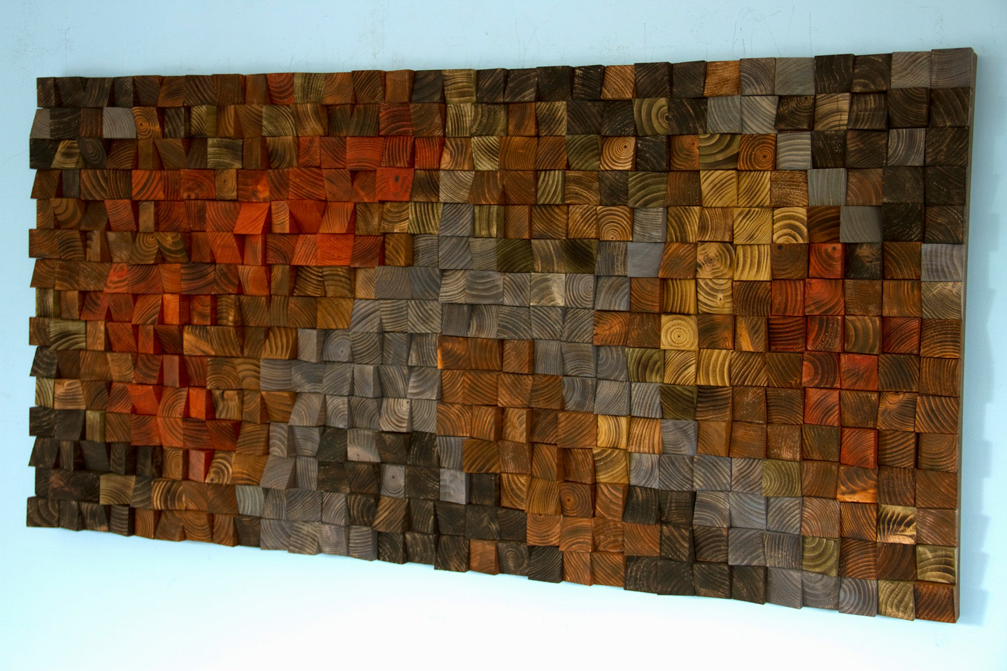 Art Painted On Wood Rustic Wood Art Wood Wall Sculpture Abstract Painting On