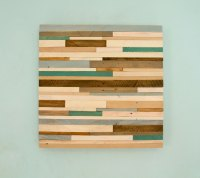"Rustic wood Wall Art, reclaimed wood decor 20"" x 20"