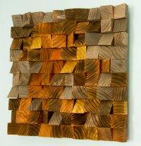 "Wood Wall Art, geometric wood art, mosaic, ""The Hell's ..."