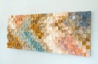 Wood Wall Art, geometric wood art, mid century art, mosaic ...