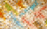 Wood Wall Art, geometric wood art, SAle, mosaic, mid ...
