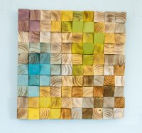 Wood Wall Art, mosaic wood art, geometric wall art  Art ...