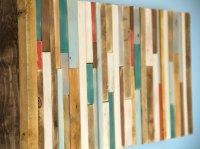 "Wood Wall Art Rustic 12"" x 28"" industrial reclaimed wall ..."