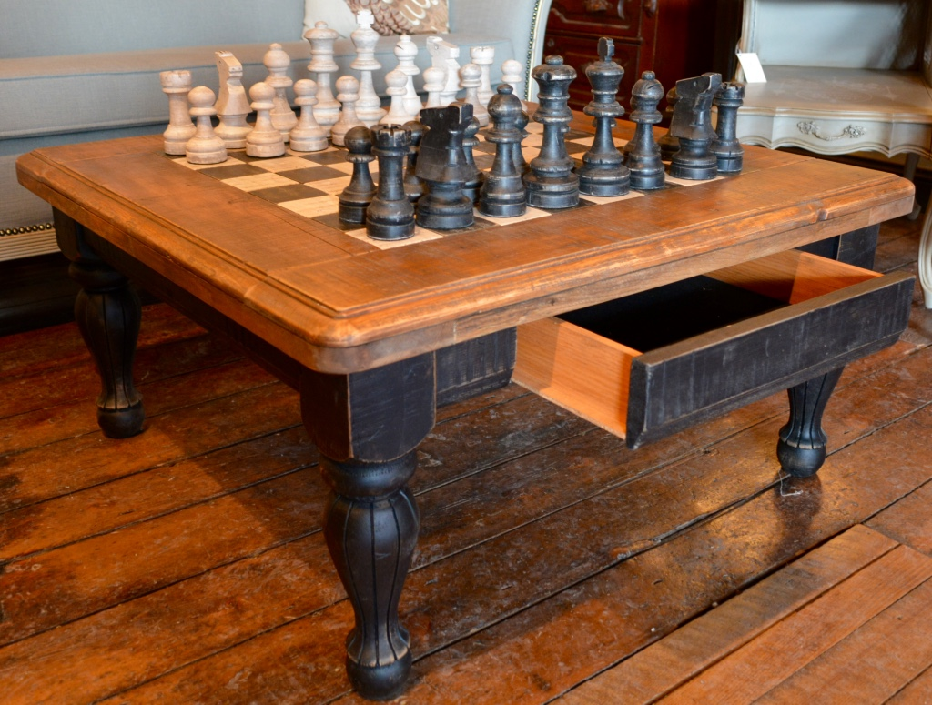 Chess Table Hand Crafted Chess Table Chess Pieces