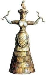 Women In The Aegean Minoan Snake Goddess Votary