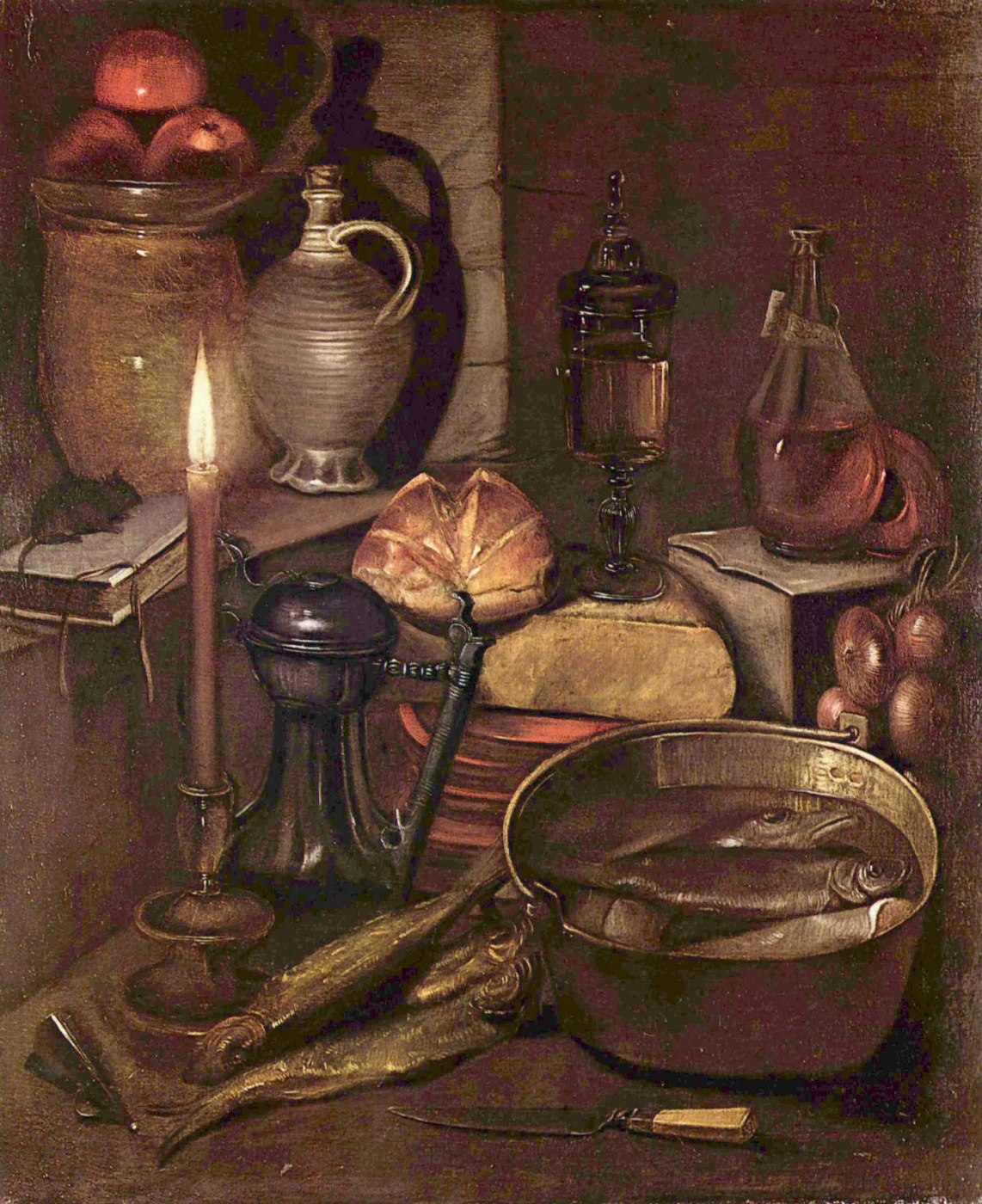 Candle Light Painting Storage Room Under The Candle Light By Georg Flegel History