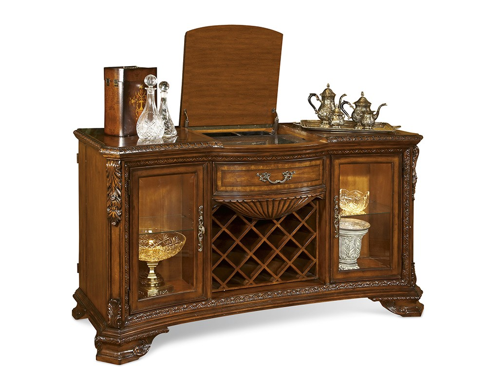 Valencia Buffet Sideboard Old World Wine And Cheese Buffet