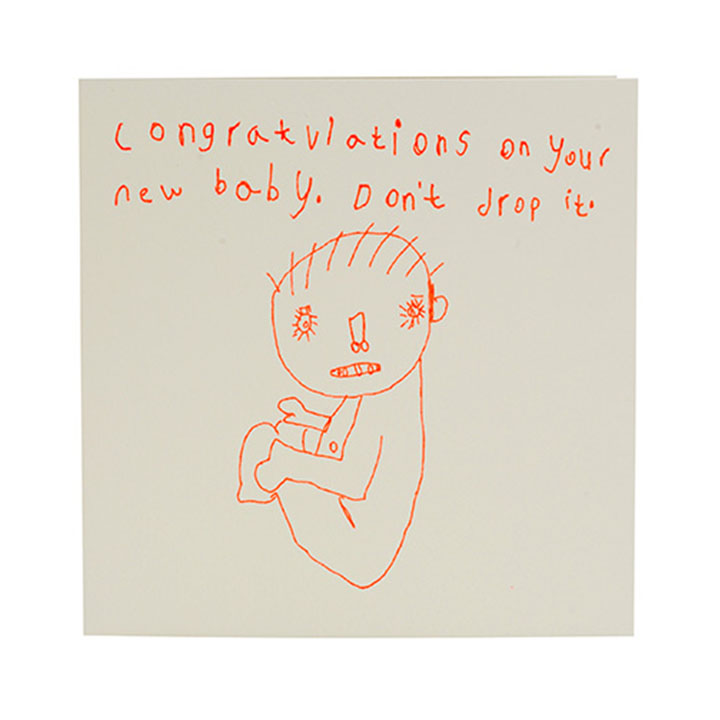 Congratulations On Your New Baby Don\u0027t Drop it Card - ARTHOUSE
