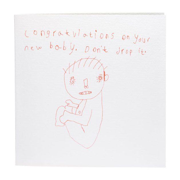 Congratulations On Your New Baby Don\u0027t Drop it Card - ARTHOUSE Meath