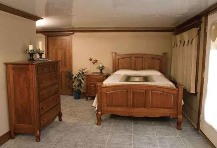 Custom Bedroom Sets Arial Fields Modern Walnut Cherry Bedroom   Custom  Bedroom Furniture