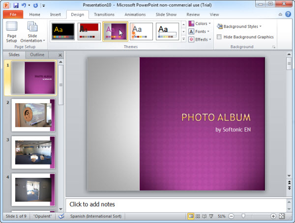 How to Create a photo slideshow in PowerPoint - create power point