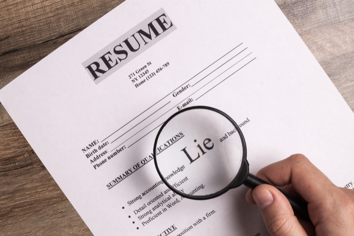 This is what happens when you lie on your resume