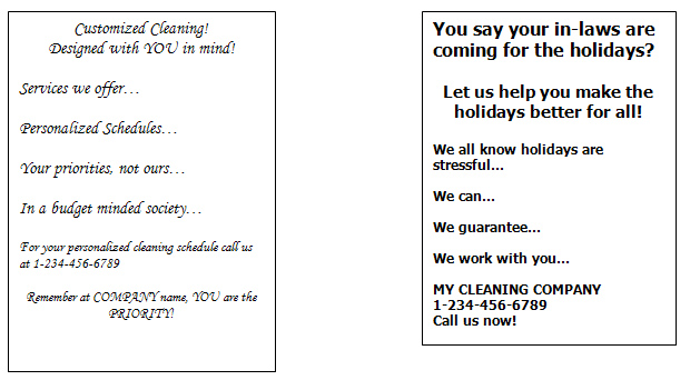Start up marketing for cleaning companies - house cleaning flyer template