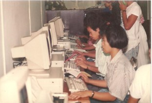 at the MSC computer lab