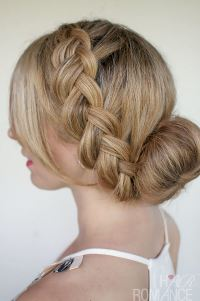 Braids and Buns Hairstyles For Brides and Girls