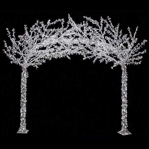 Outdoor Plant Cart 8.25 X 9.5 Foot Acrylic Arch Tree W/ Shapeable Branches