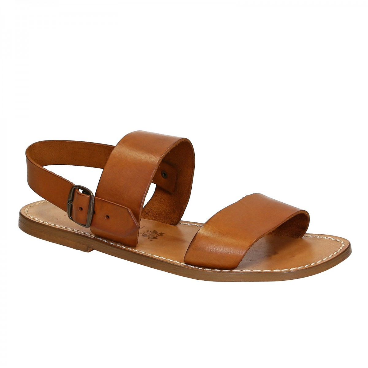 Leather Cuir Hand Made In Italy Mens Sandals In Vintage Cuir Leather