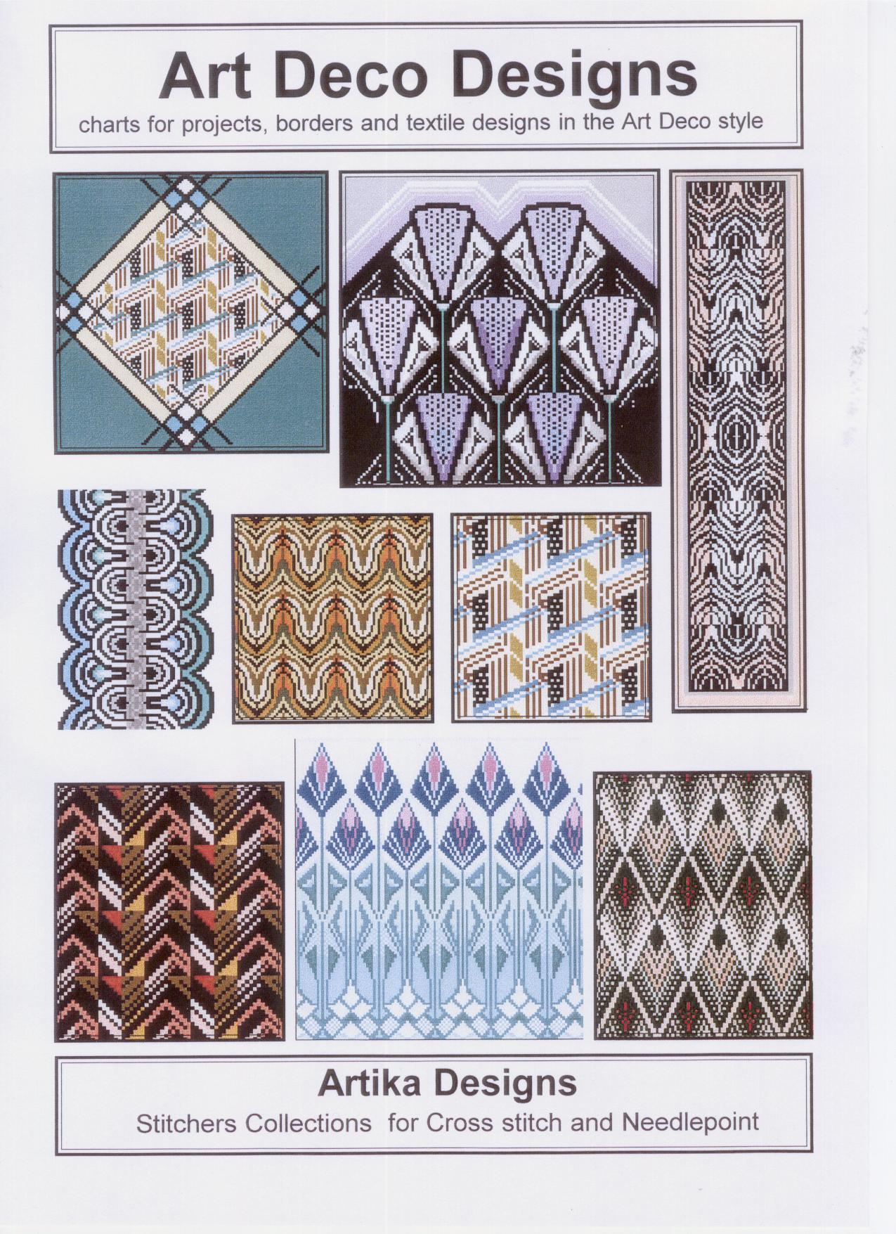 Designer Deko Art Deco Charted Designs For Cross Stitch And Needlepoint