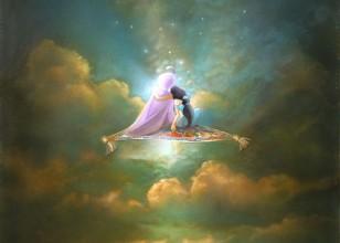 Aladdin And Jasmine Original Production Cel And Concept