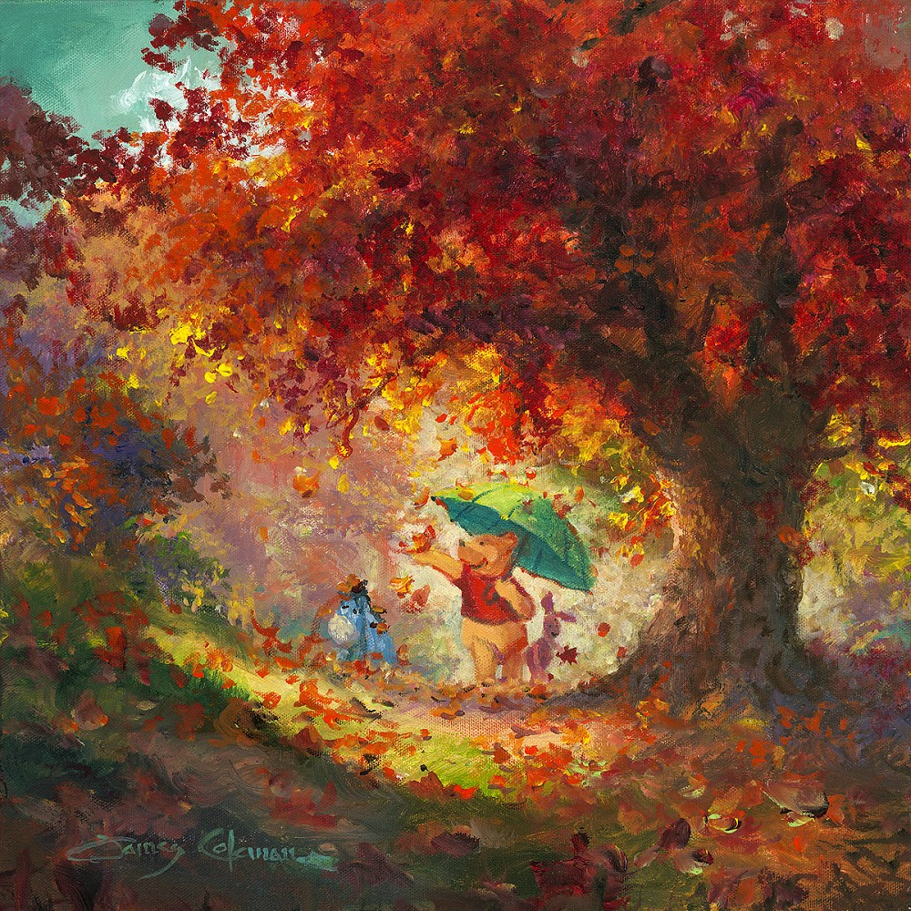 Free Animated Fall Desktop Wallpaper Autumn Leaves Gently Falling Winnie The Pooh Treasures On