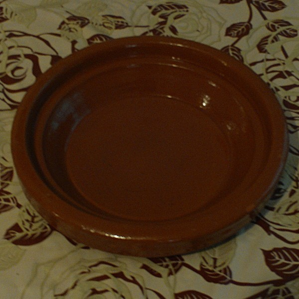 Beni Ouarain Moroccan Glazed Terracotta Dish, Hand Crafted In Marrakesh