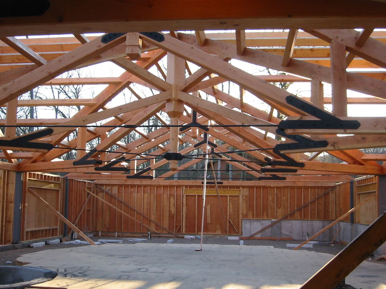Frame Pool Test Timber Frame Pool House Purlins Douglas Fir