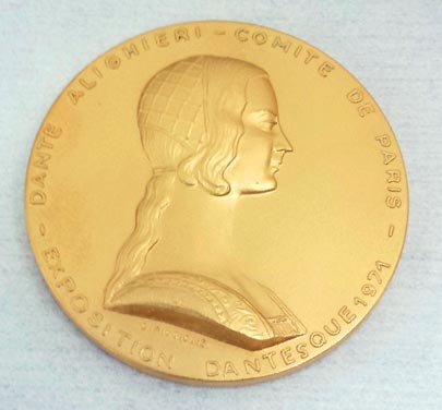 18kt Dante Commemorative Medallion