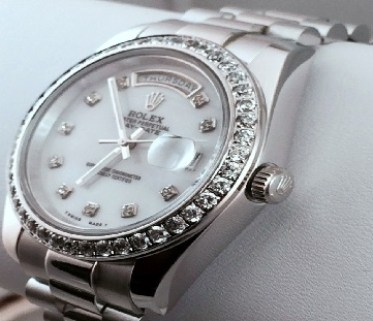 Rhodium Plated Watch