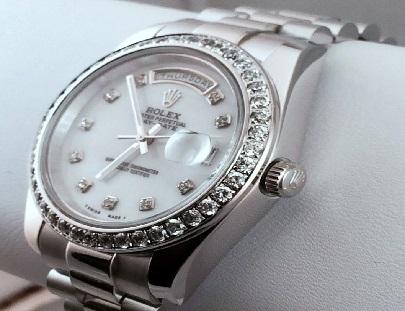 Rhodium Plated Watch