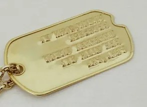 WWII dog tags